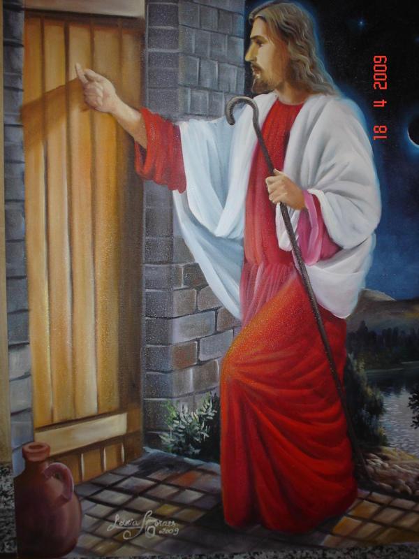 Met fora a porta do cora o for Jesus a porta